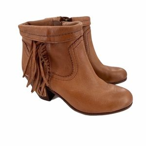 SAM EDELMAN | Louie Leather Brown Ankle Booties